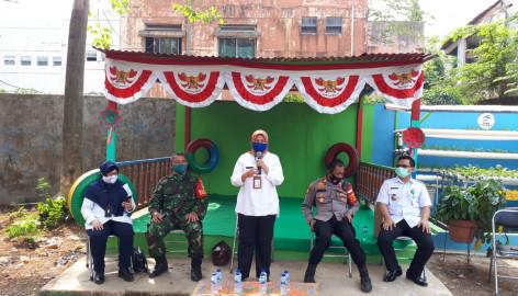 Giat Camat Kelapa Dua, Peresmian Kampung  Jawara Serta Sosialisasi Covid-19 Oleh Kepala Puskesmas Jalan Emas