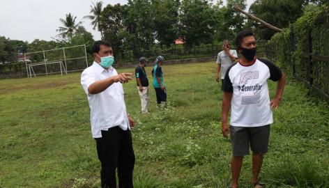 Sekda Tinjau Stadion Mini Kecamatan Tigaraksa