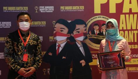 Camat Tigaraksa Raih Penghargaan Ppat Award Provinsi Banten 2020