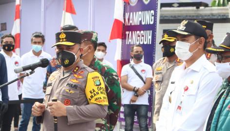 Wabup Tangerang Bersama Kapolda Metro Jaya Gaungkan Kampung Tangguh Kelapa Dua