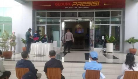 Pelaksanaan Kegiatan Pengamanan Vaksin Yang Di Laksanakan Di Mapolresta Tangerang Kota, Dalam Rangka Perayaan Hut Bhayangkara