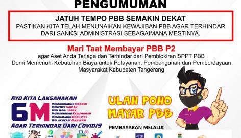 """Jatuh Tempo Pbb Semakin Dekat """"mari Taat Membayar Pbb P2"""""""