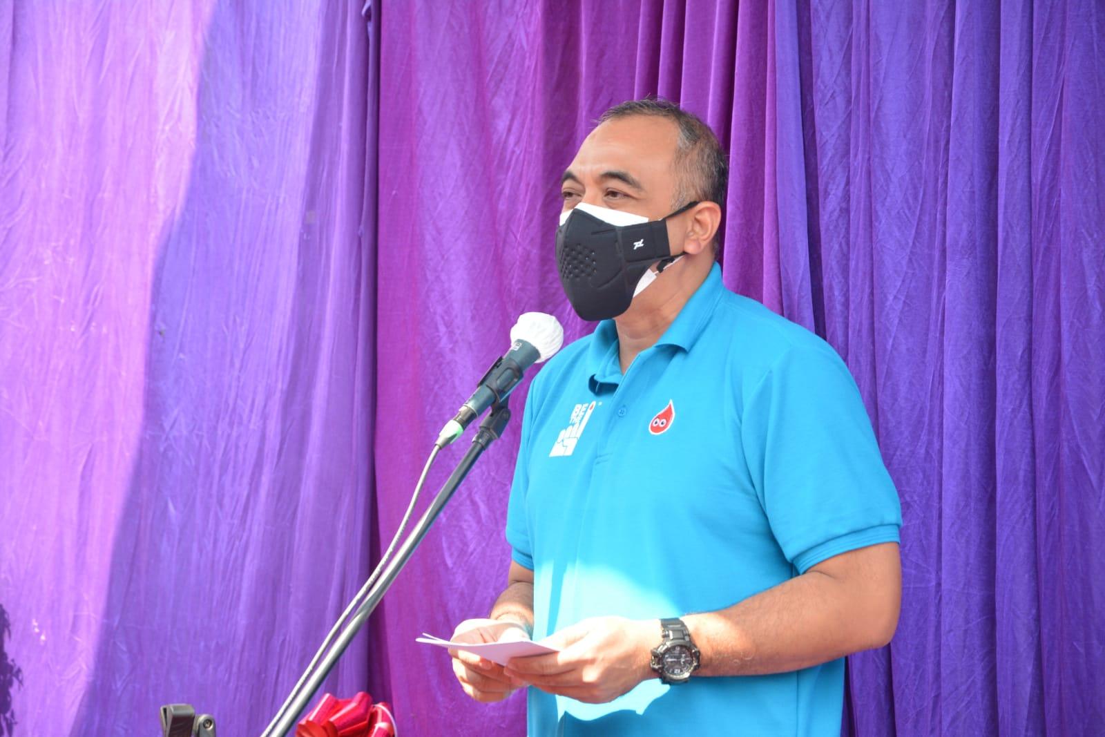 Bupati Ahmed Zaki Iskandar saat hadir di acara peluncurkan pelayanan darah digital UDD PMI Kabupaten Tangerang